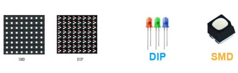the LED lamp structure of SMD and DIP