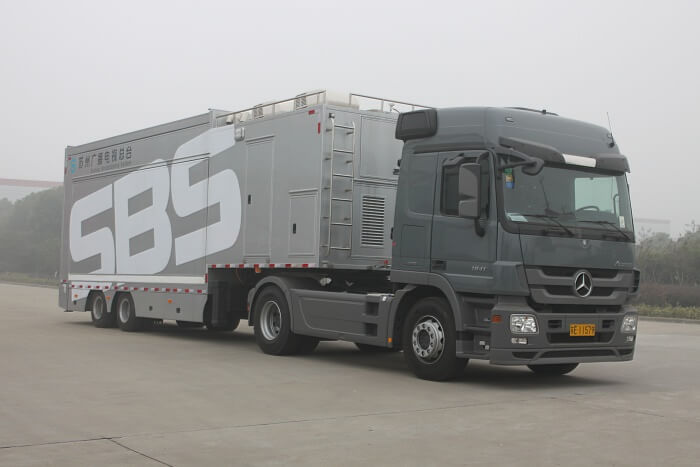 MB-32 LED wall trailer after folding