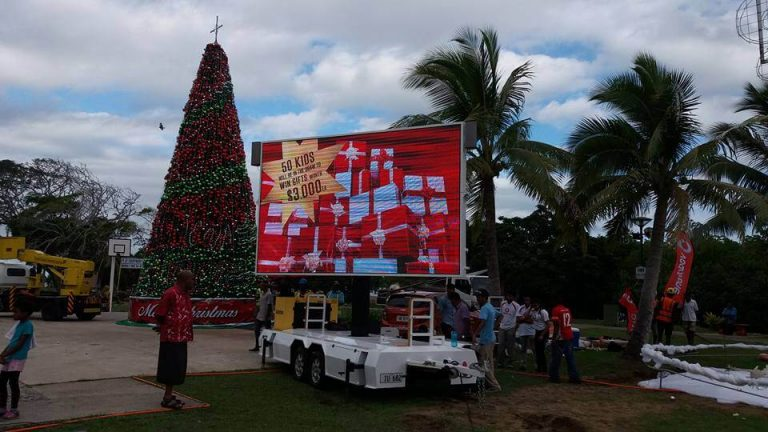 MB-10 trailer in Christmas events promoting