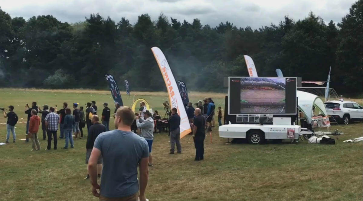 MOBO trailer in outdoor sports broadcast