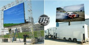 compare mobile LED display trailer and rental outdoor LED screen
