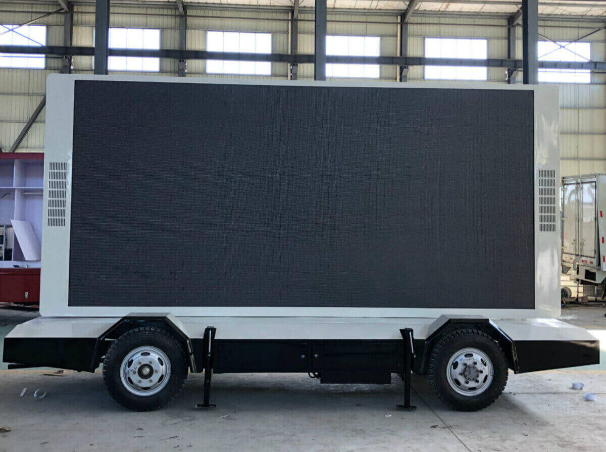 mobile led trailer in MOBO factory