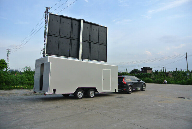 Led sign on MB-22 enclosed trailer