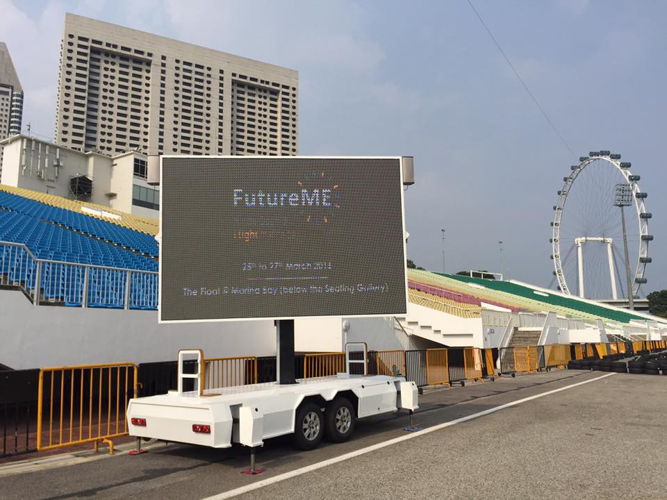 MOBO MB-10 mobile LED screen trailer outdoor advertising