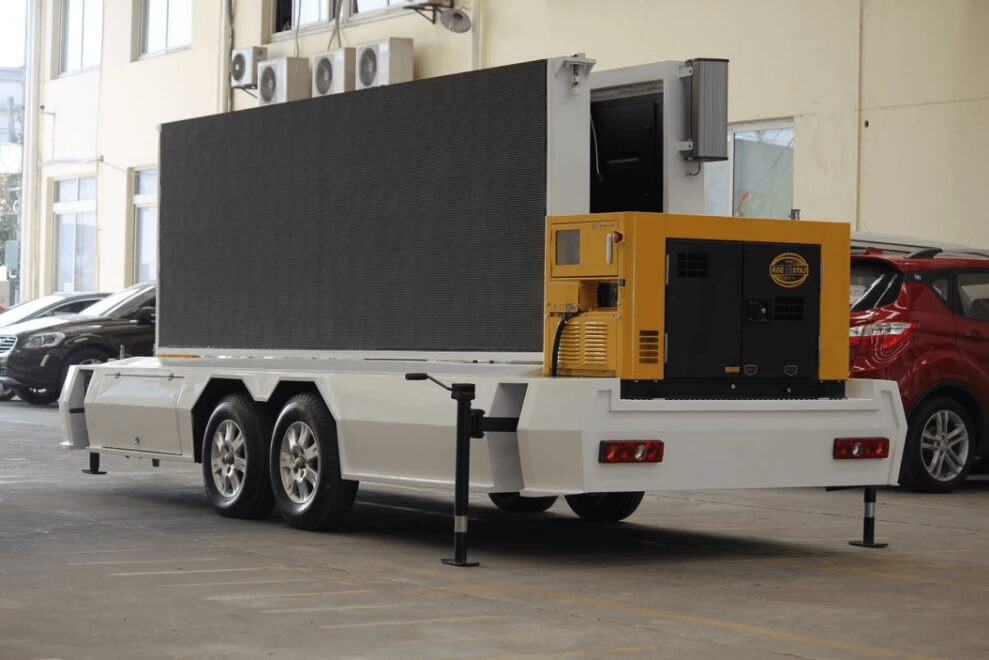 MB-10 mobile LED screen trailer with generator