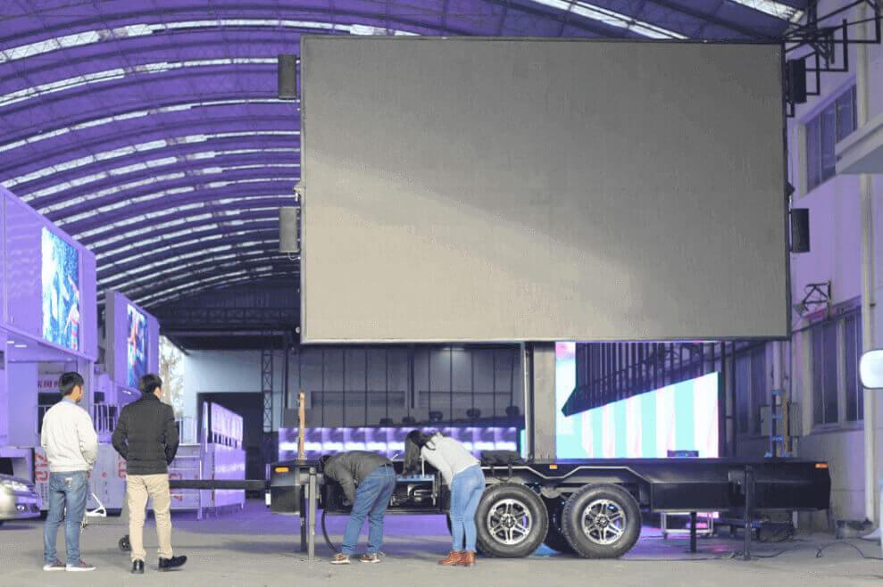 MOBO MB-16 mobile LED billboard trailer in stock