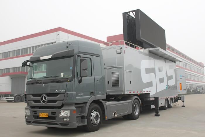 MOBO 32sqm mobile LED wall trailer