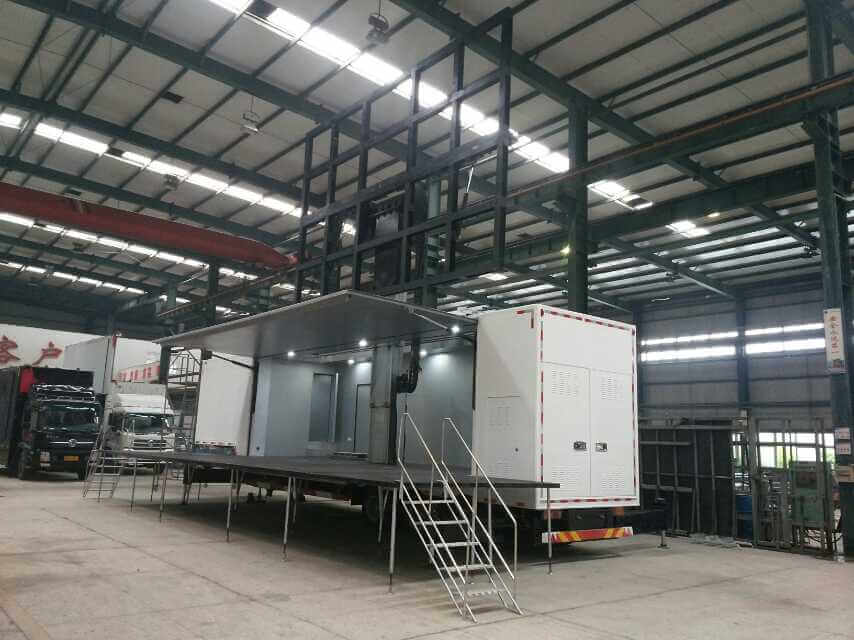 32sqm mobile LED wall trailer in MOBO China facory