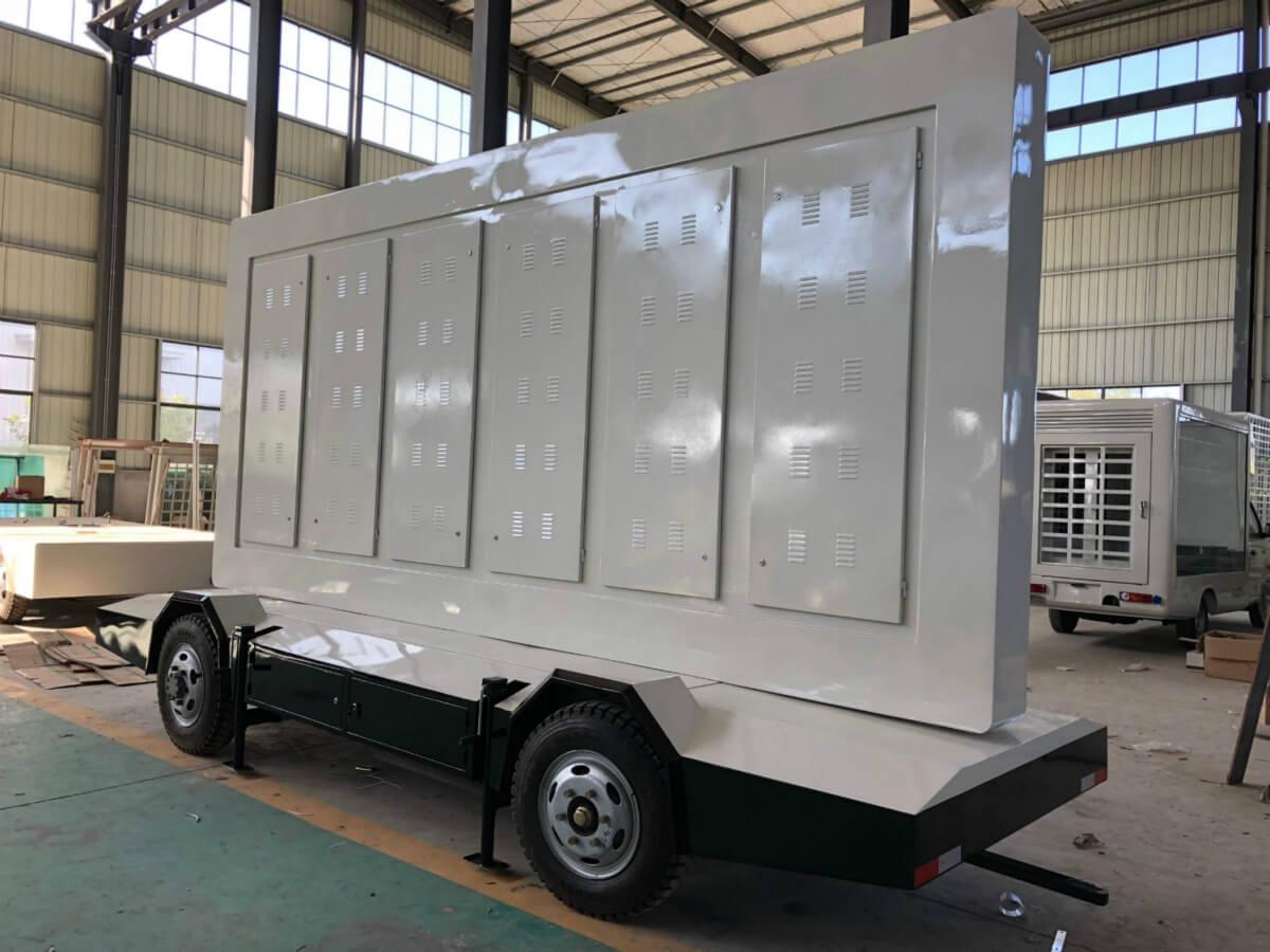 back cabinet of B-12 trailer LED screen