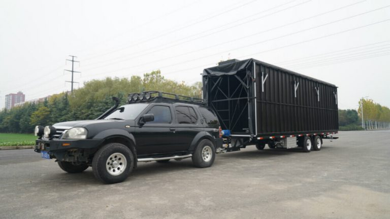 MB-50 stage trailer with SUV