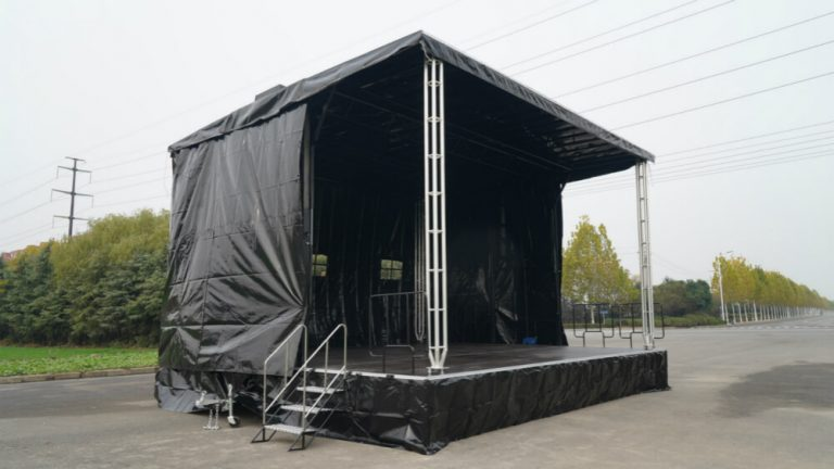 MOBO MB-50 stage trailer in event