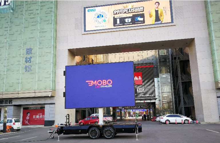 digital billboard trailer performs better in outdoor advertising than LED screen on walls