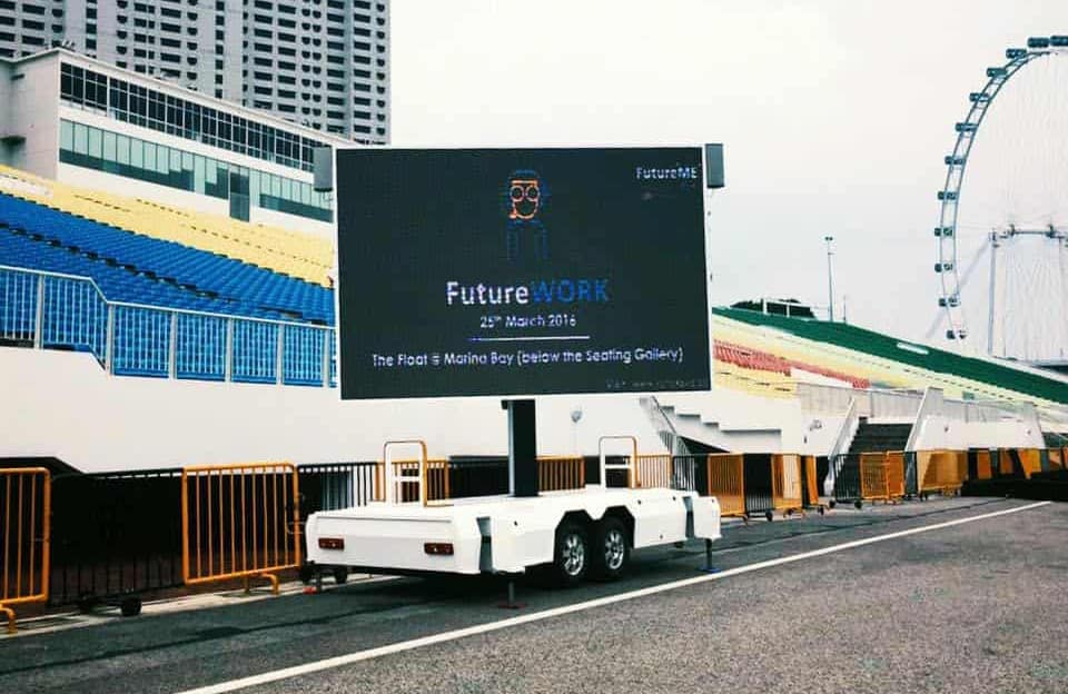 MB-10 LED screen trailer in Singapore
