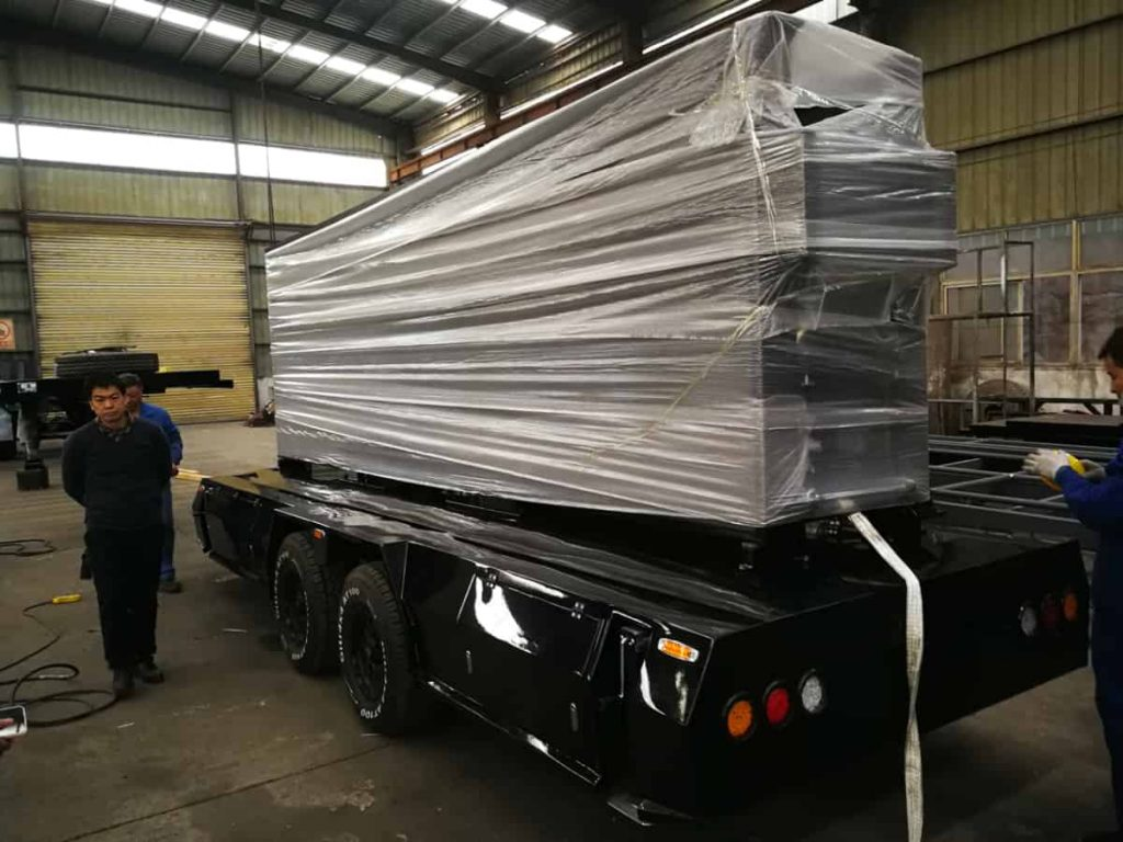 MOBO LED display trailer waiting for delivery