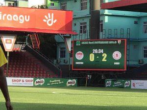 LED screen at sports club