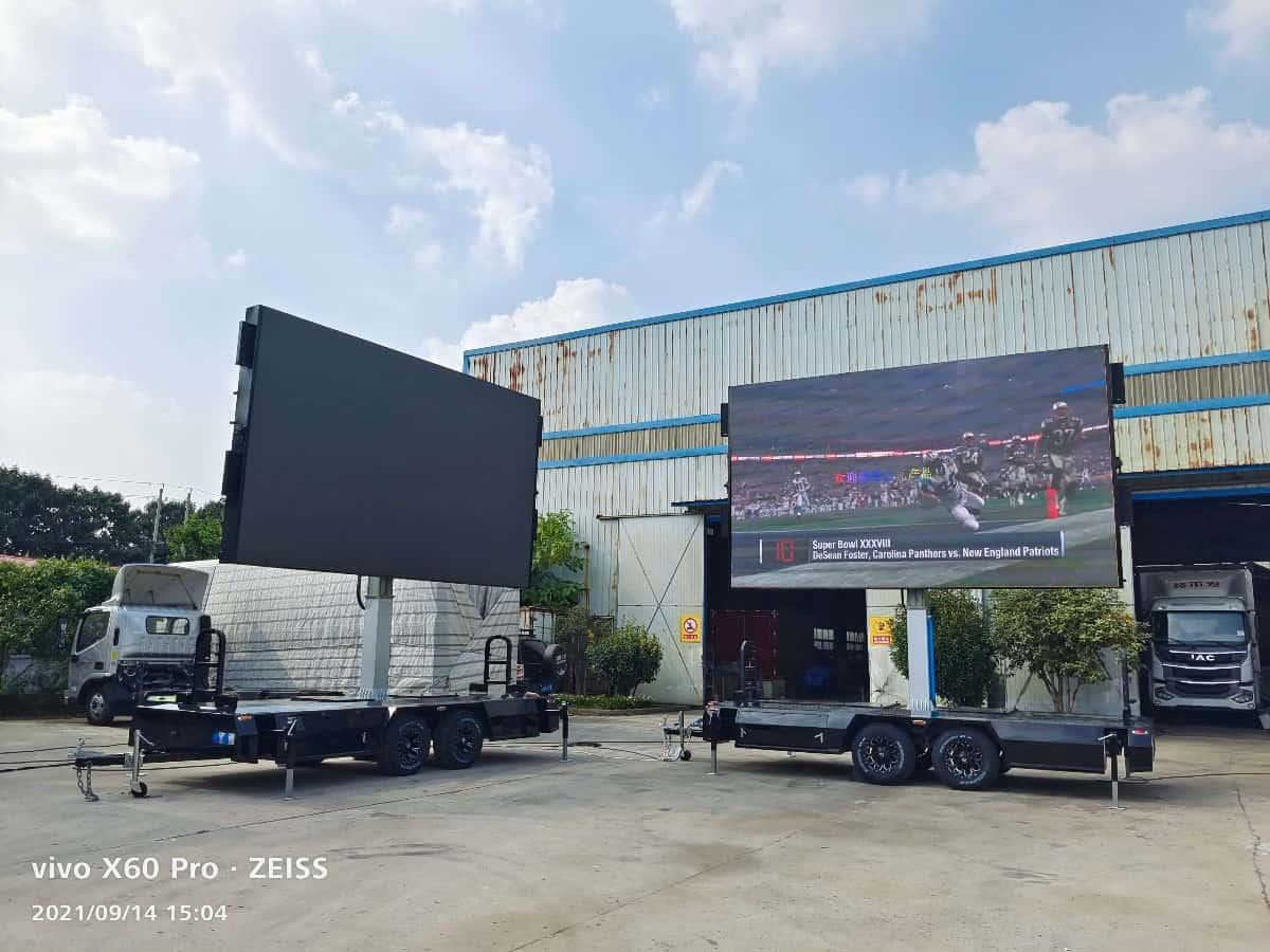 MOBO rental LED screen trailer