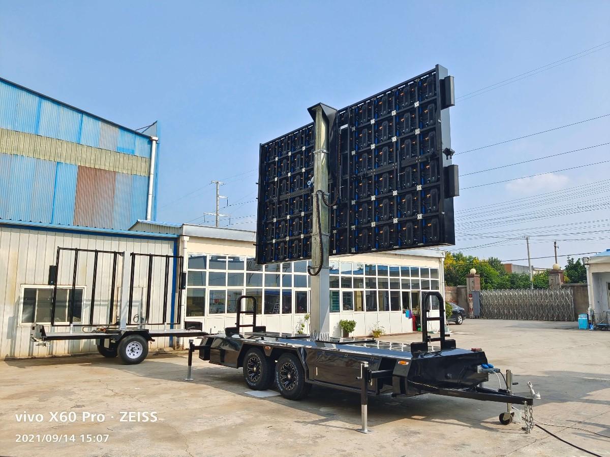 Rear side of MB-16 LED billboard trailer