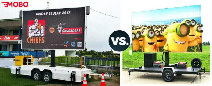 MOBO LED screen trailer better than other manufacturer